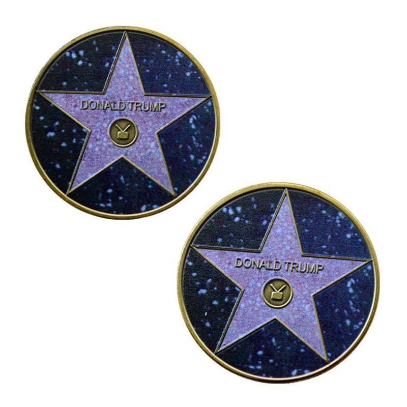 Personalizado 2024 Donald Trump Pentagrama comemorativo moedas comemorativas moedas para trunfo campanha supporters OWA7193