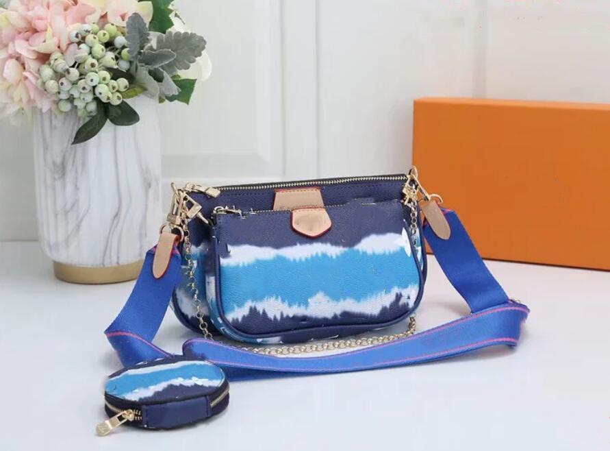 Renk satış çanta moda rahat omuz çantası messenger cüzdan cep telefonu üç parçalı kombinasyonu
