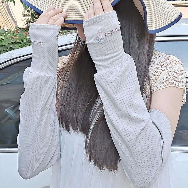 Geniş Ağız Şapkalar Kadın Kol Kollu Yaz Güneşten Korunma Gevşek Güneş Kremi Sürüş Kollu Nefes UV Koruma Eldiven ile