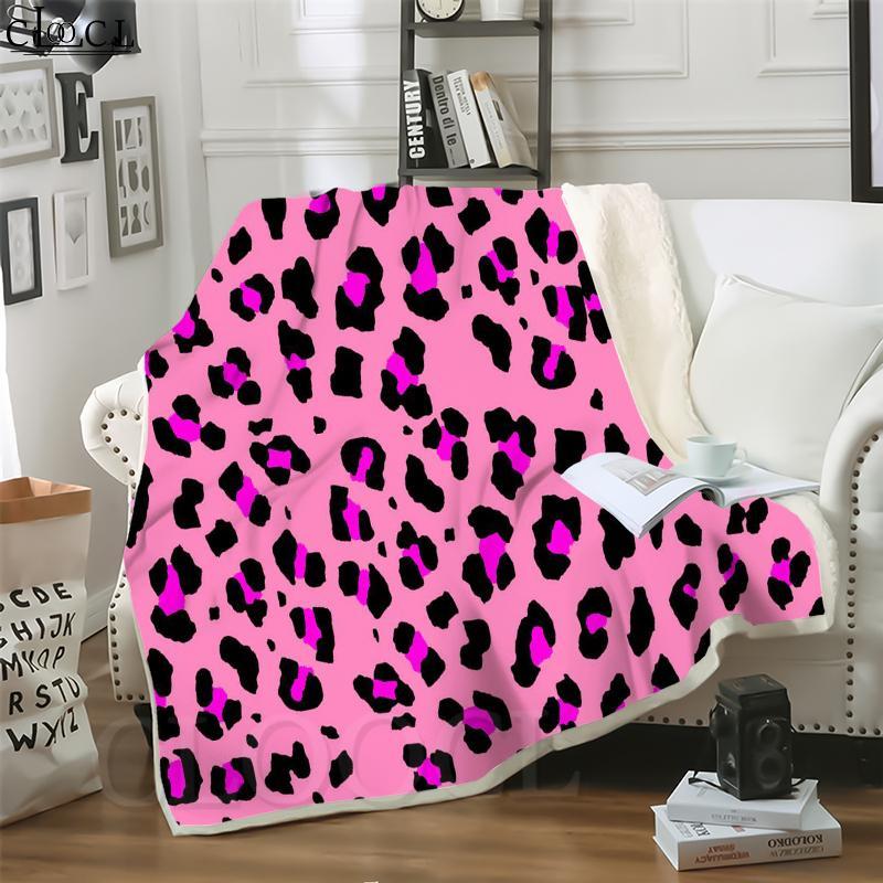 Cloocl Cobertores Leopardo Padrão 3D Imprimir Harajuku Ar Condicionado Sofá Throw Throw Cobertor Adolescentes Colcha de Pelúcia