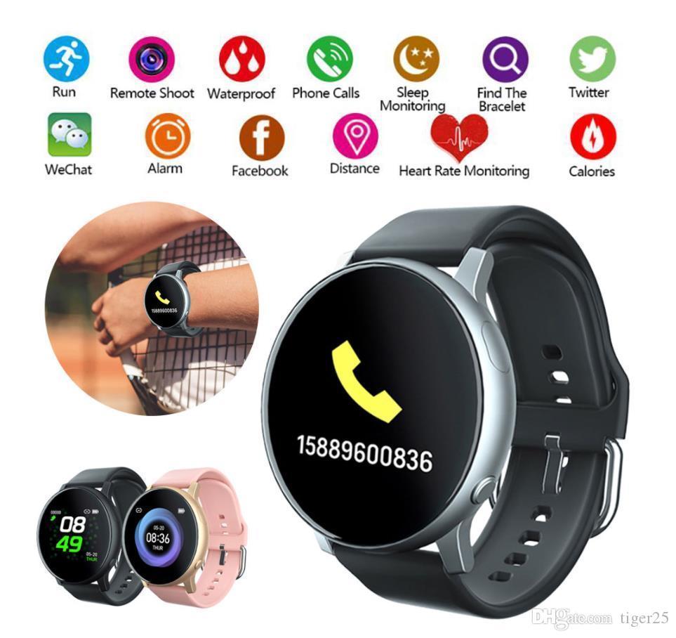 2021 S2 relógios inteligentes Pressão arterial frequência cardíaca tracke ip67 impermeável mulheres mulheres homens multifuncional esporte relógio