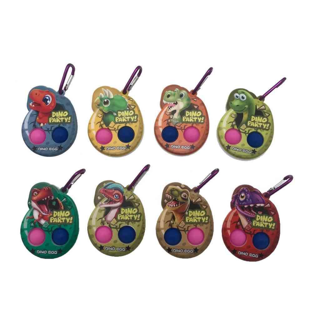 Halloween Calabaza de dibujos animados Fidget Push It Bubble Board juego Juguetes de dedo juguetes llavero niños Inosaurio Dino Fiesta Egg Popper Llaveros llaveros Encantos Aprendizaje temprano Juguete G80VTJT