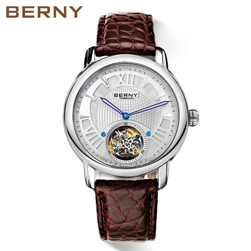 Montre-bracelet Berny Hommes Regardez Quartz Mens Fashion Top Relogio Saat Montre Horloge Masculino Erkek Hombre Japon Mouvement 070 Mo
