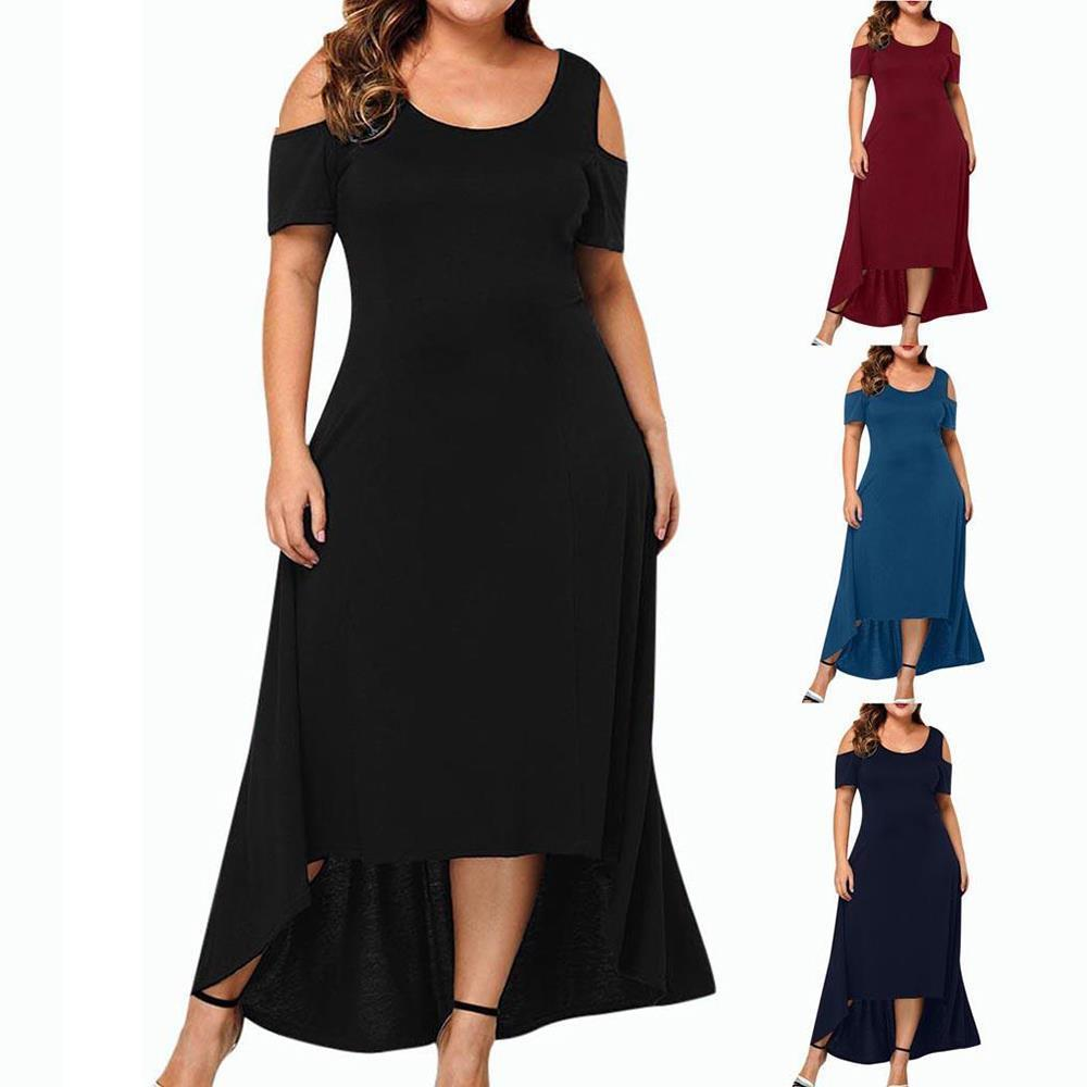 Icclek frauen dress s 7xl plus größe kleider abend party sommer maxi große damen kurze hülse floral gedruckt elegantes geschenk