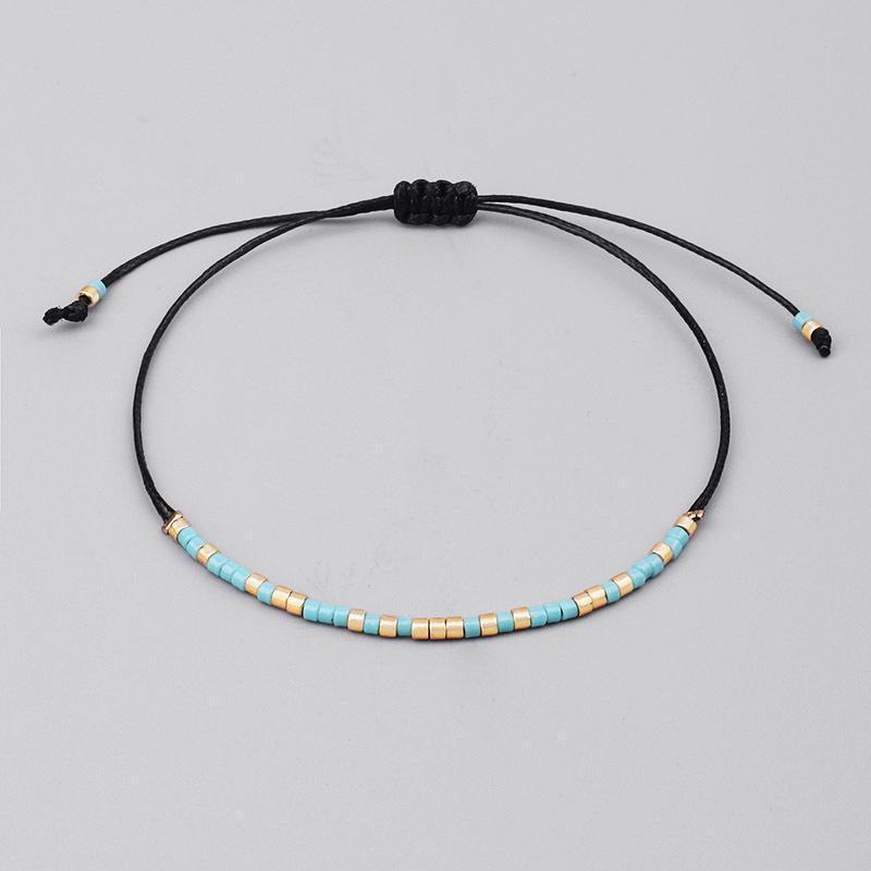 Charm Bracelets Simple MIYUKI Bead Bracelet Bangle For Women Men Classic Wax Thread Ethnic Handmade Bijoux Jewelry Gift Drop