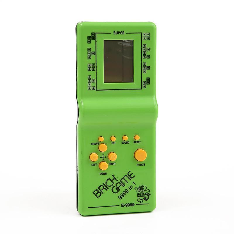 Classico Tetris Hand Nostalgic Host Game Player Tenuto Giocattoli elettronici Giocattoli console per bambini che giocano divertimento in mattoni Gaming Riddle Handheld E9999 con scatola al minuto