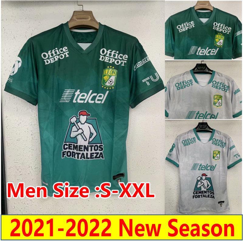 21 22 المكسيك Liga MX Leon Soccer Jerseys التذكارية الصفحة الرئيسية في الدوري المكسيكي Sosa Macias Leonardo Ramos 2021 2022 قمصان كرة القدم Club León FC Camesitas