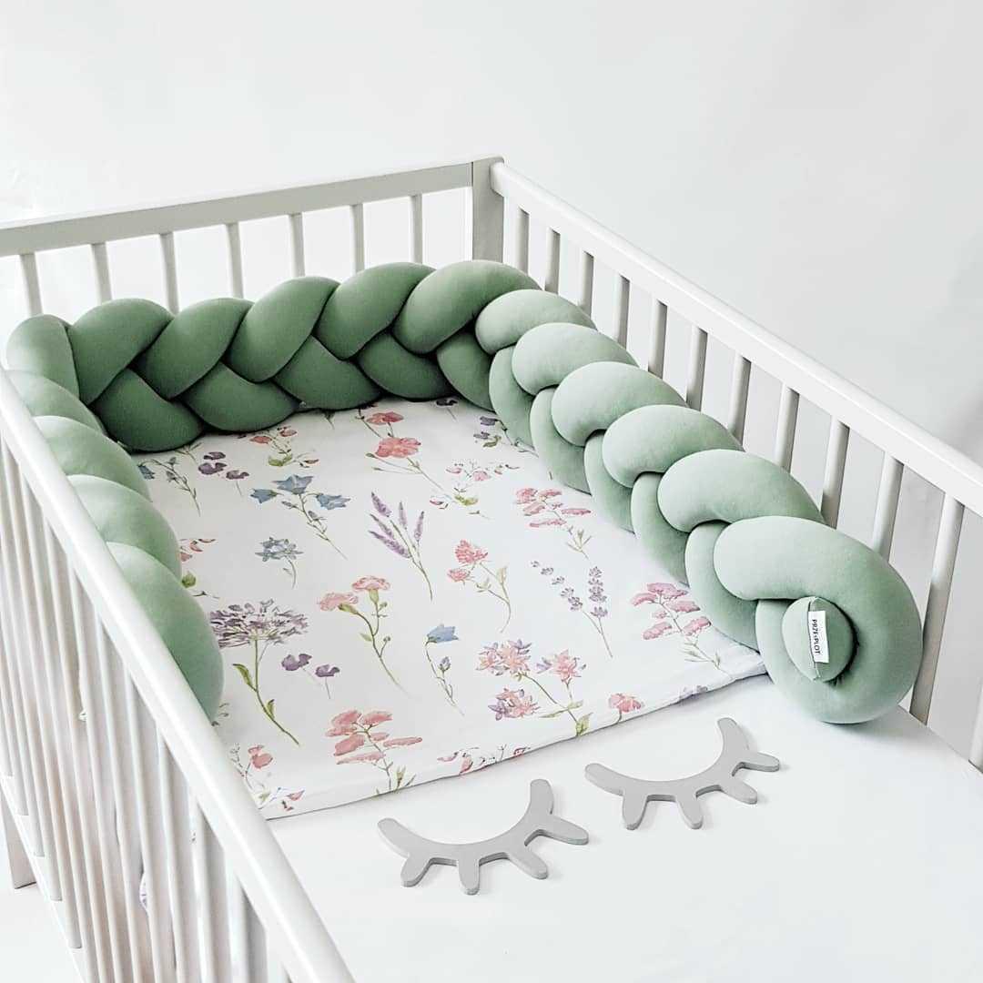 1M 아기 범퍼 쿠션 베개 침대에서 베이비 베이비 침대 보호 투어 드 조명 Bebe Tresse Chichonera Cuna Q0828
