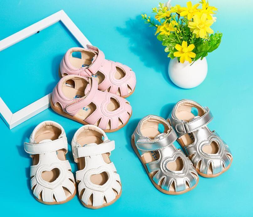 Livie & Luca Summer Style Children Sandals Girls Petal Flower Shoes Kids Flat Sandals Baby Girls Guniue Leather Shoes 210305