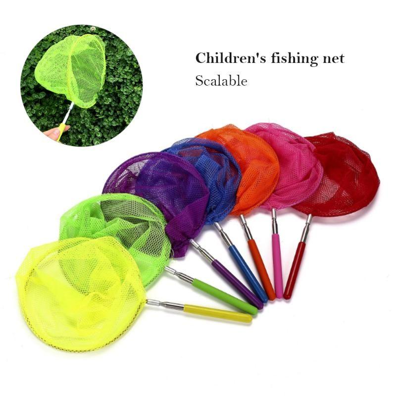 Extensível Crianças Catcher Net Malha com Anti Slip Peixe Inseto Catching Bugs Pesca Toy Acessórios