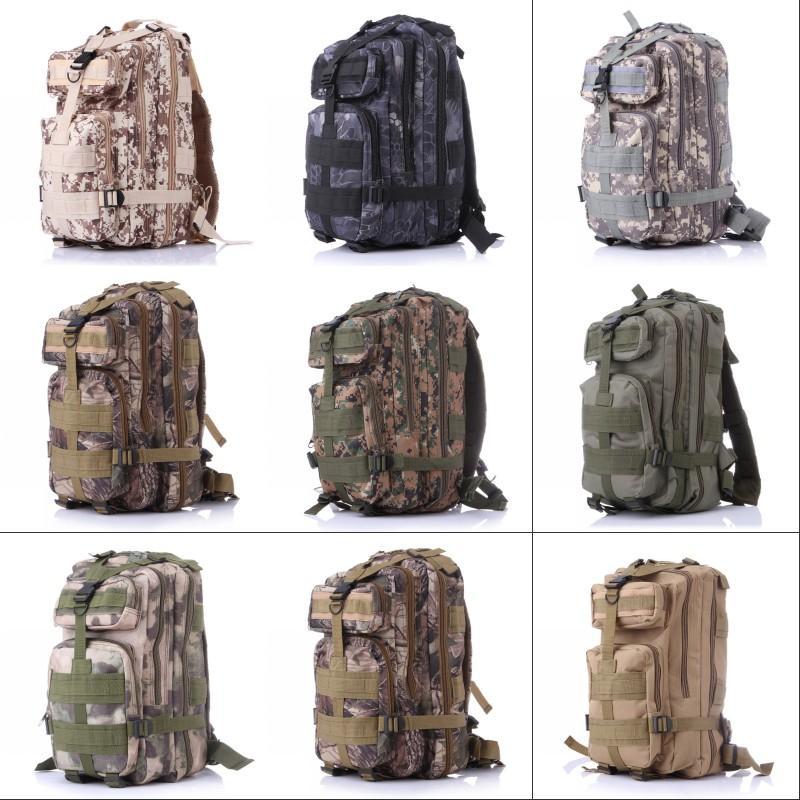 12 colores 30l Senderismo Camping Bag Militar Tactical Trekking Mochila Mochila Camuflaje Molle Rucksacks Ataque Bolsas al aire libre CCA9054 654 x2
