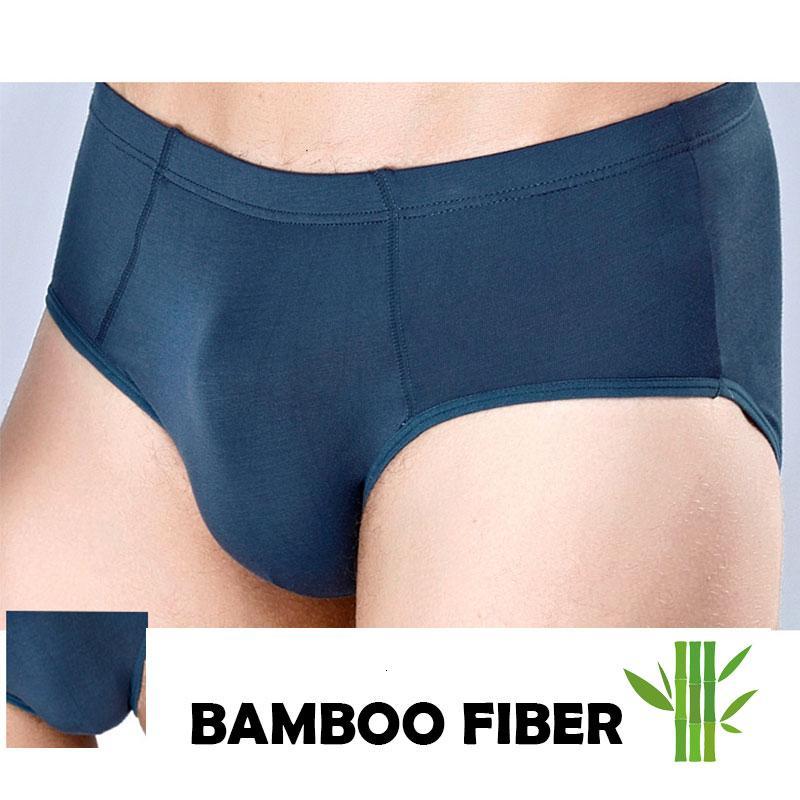 Sous-vêtements pour hommes de fibre de bambou respirant pour Big Penis Plus Taille Couleur Solie Basic Ropa Intérieur Hombre Sexi Soik Skins Slins Slips