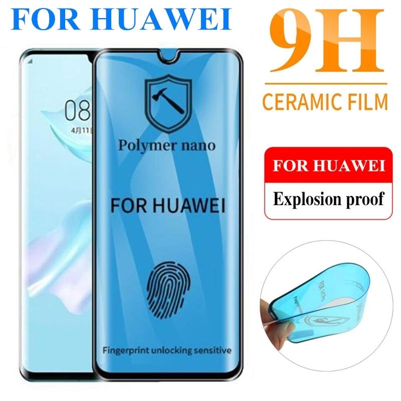 Curved Soft Ceramic Screen Protectors for Huawei P30 Mate 30 P20 P40 Mate30 Mate20 Pro Tempered Glass