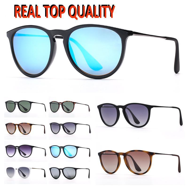 Mens polarisierte Sonnenbrille Mode Womens Sonnenbrille fahren Erika Eyeware des Lunettes de Soleil UV-Schutzlinsen mit freiem Ledertasche