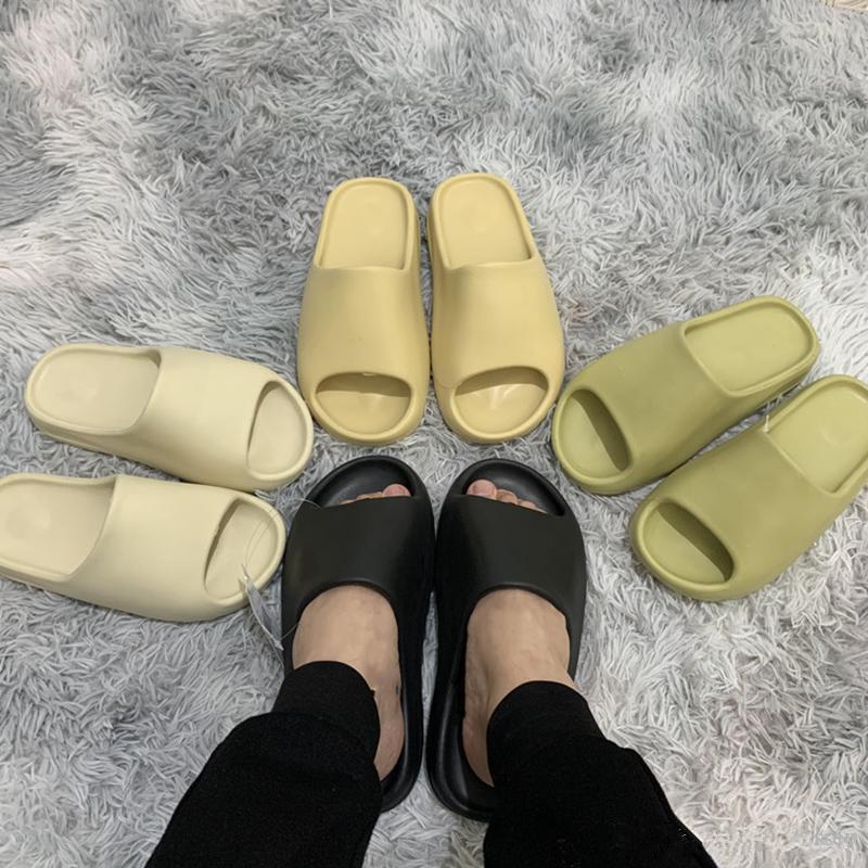 Kanye West Slide Resina Deslizantes Deserto Deserto Areia Terra Brown Black Slides Designer Moda Sandal Beach Sandálias Sapatos com Caixa