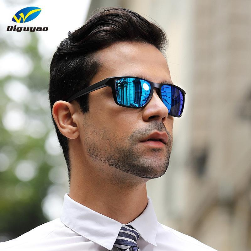 Brand classique TR90 Hommes Sunglasses Polarized Square Lunettes Male Shade Driving Eyewear Soleil pour Oculos Gafas