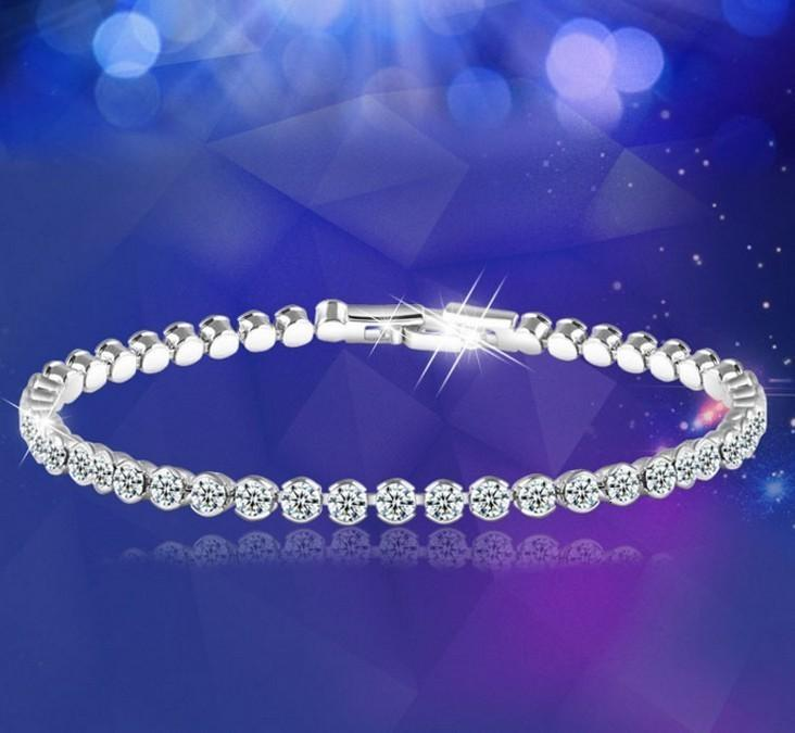 Charm Bracelets Austrian Crystal Plateado Plateado Moda Coreana BoutiqueLkzgt9ki