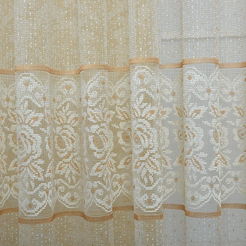 Curtain & Drapes 2021 Curtains Dormitorio Luxury Lace Hollow Tulle Fabrics For Bedroom Window The Drapes/panels Screening