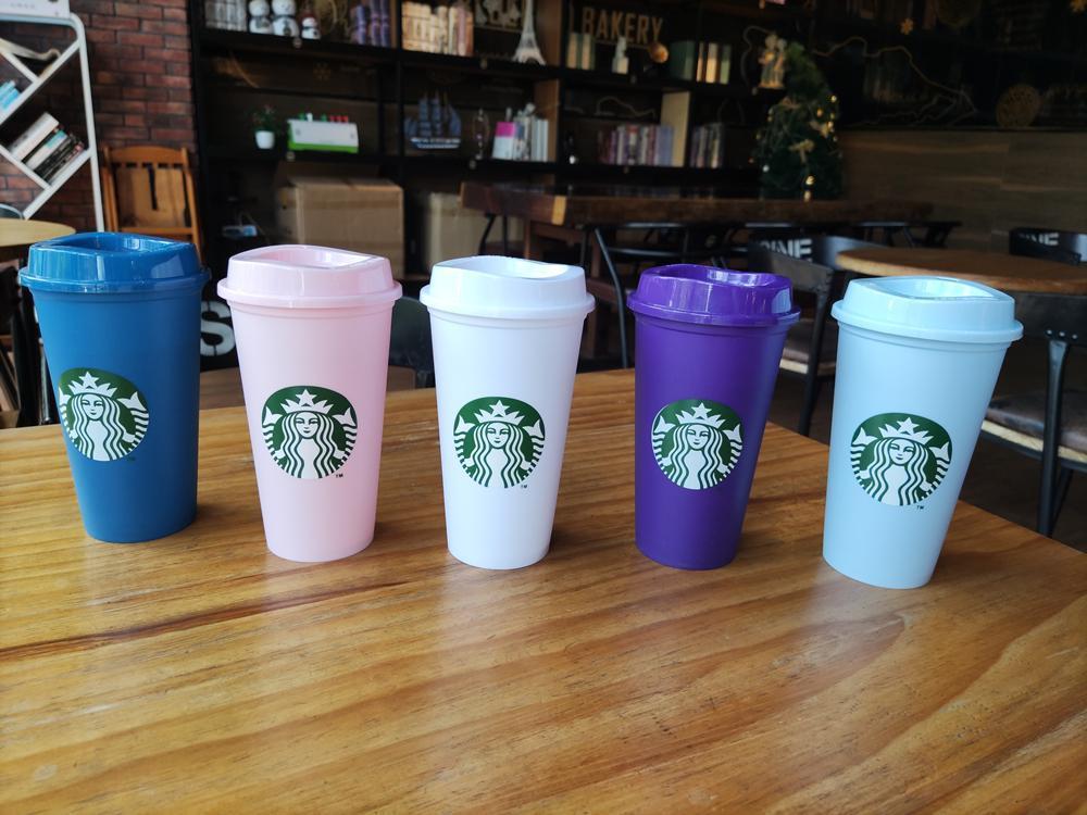 Starbucks 16z-heiße und kalte Kaffeetasse mit Deckel