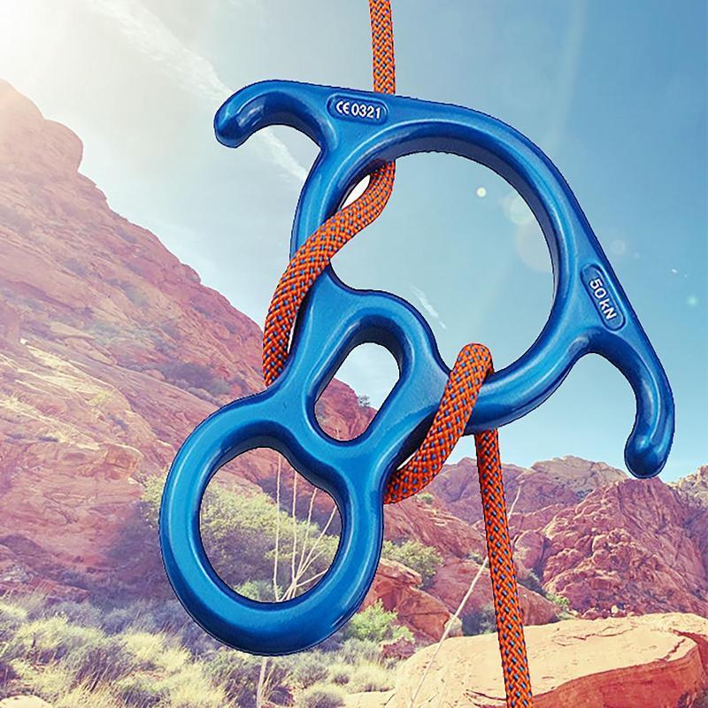 Rettung 8 Form des Descender-Getriebe-Tools absteigender Ring für Klettertraining-Luft-Yoga-Herbstableiter-Schnüre, Slings und Gurtband