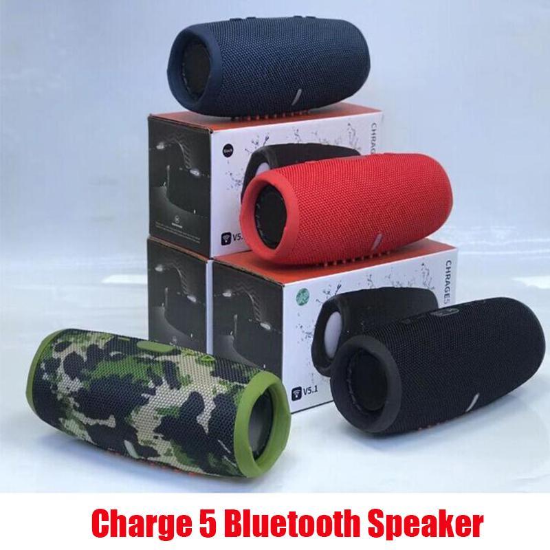 Carga 5 Bluetooth Speaker Charge5 Portable Mini inalámbrico al aire libre a prueba de agua Altavoces Subwoofers Soporte TF USB CARD COLORES