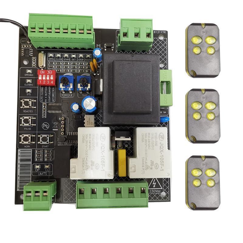 Fingerprint Access Control Universal Version Sliding Gate Opener Pcb Circuit Board Controller AC Placa Para Puertas Correderas De