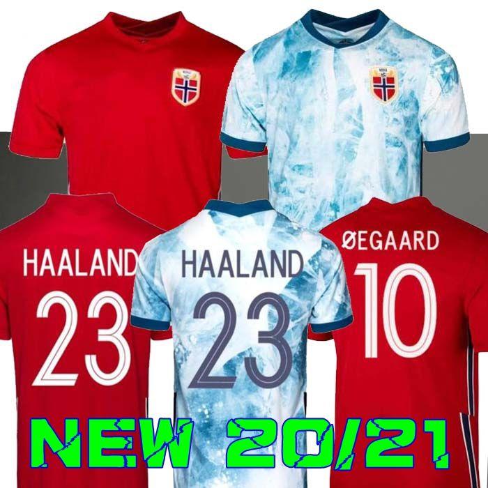 20 21 النرويج Soccer Jerseys 2020 2021 Noruega Haaland Odegaard Berge King Camisetas De Fútbol National Team Football Home Thailand