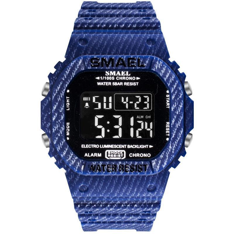 Hommes LED montres numériques SMAEL Silicone Camouflage Armée militaire Male Horloge 1801 Sport Sport Montre-bracelet