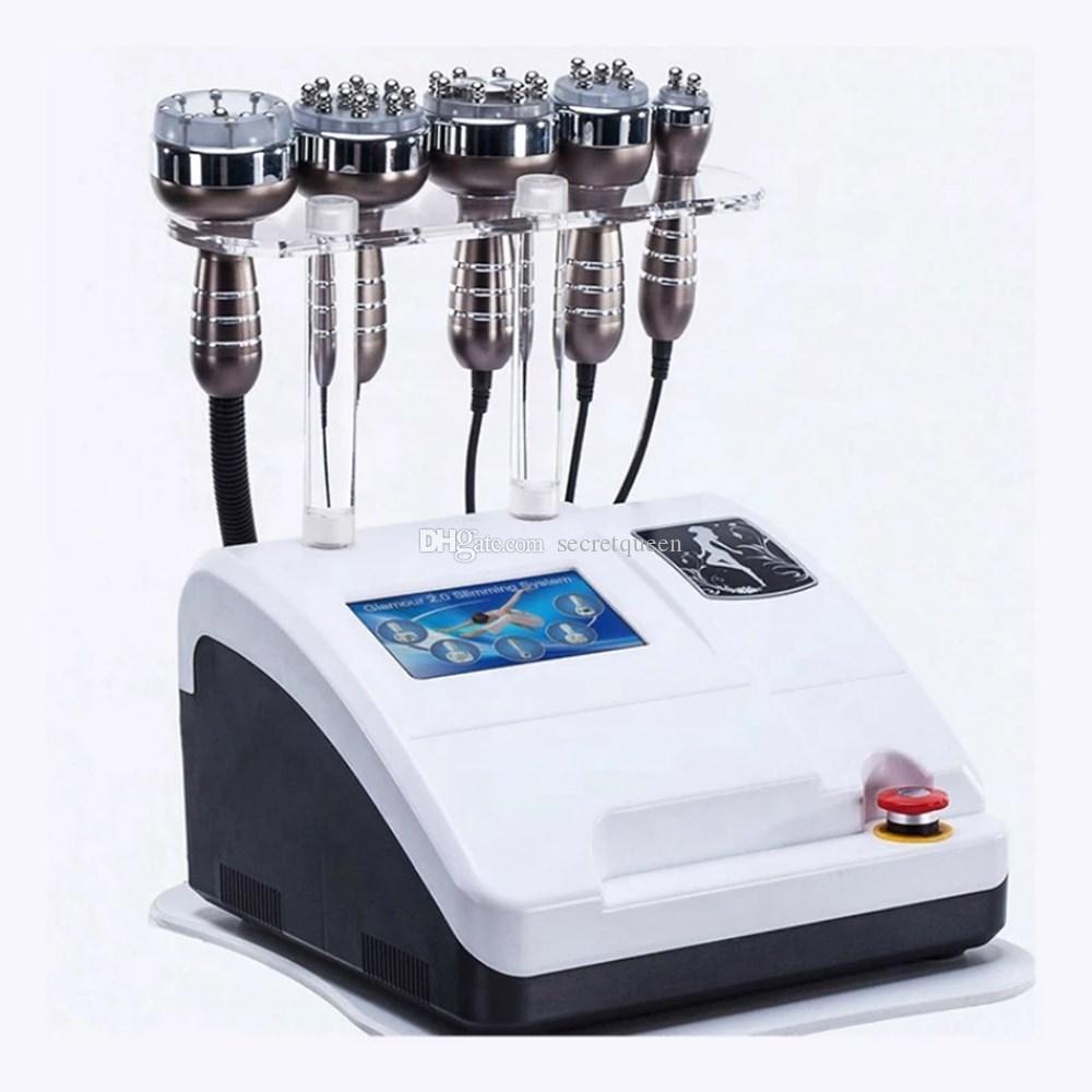 40K 5 in 1 RF 슬리밍 기계 초음파 Cavitation 무선 주파수 셀룰 라이트 제거 체중 감소 아름다움 equipmet