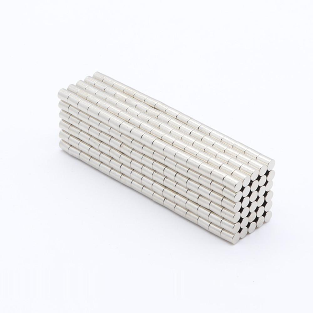 Wholesale - In Stock 1000pcs Strong Round NdFeB Magnets Dia 3x4mm N35 Rare Earth Neodymium Permanent Craft/DIY Magnet
