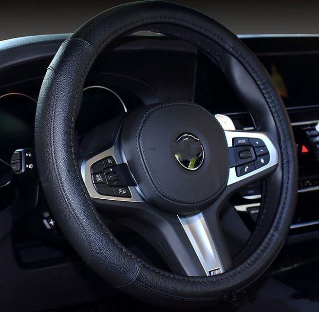 2021 Diseñadores de lujo Cubierta INTER 38CM PU Manija antideslizante Coche Auto Volante Accesorios interiores