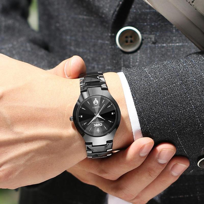 Armbanduhren Mode Business Einfache Quarz Uhren Kalender Diamant Uhr Männer Armbanduhr Wasserdicht Für Paar Geschenk