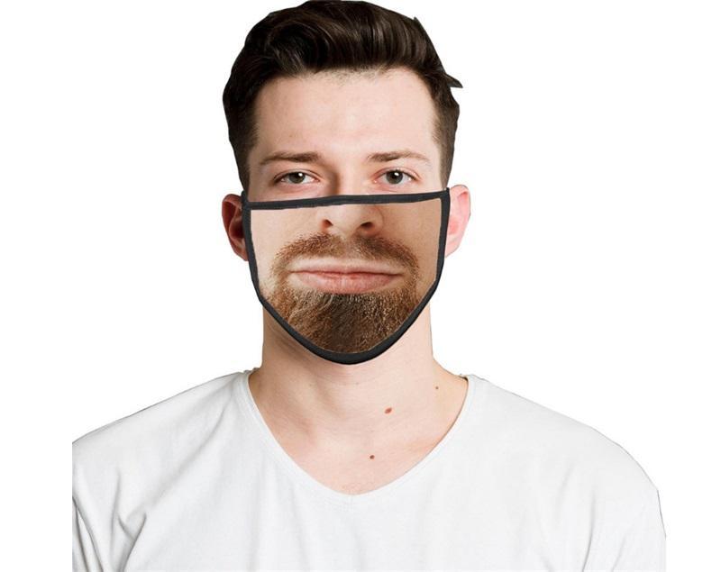 2021 Многоразовая моющаяся смешная мода маска лица 3d выражение эмоции личности маски пылезащитные дымовые дышащие маски для вечеринок 762 R2