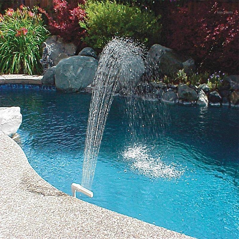 수영장 분수 폭포 물 스프레이 스프링 클러 로터스 모양 스탠드 브래킷 도구 풍경 장비 수영장 도구 재고 F31
