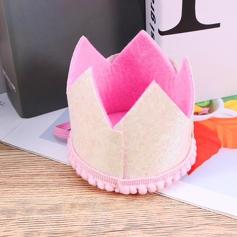 Festa chapéu tiara coroa boné suprimentos para crianças bebê aniversário celebração chuveiro po adereços branco e arco-íris CR chapéus
