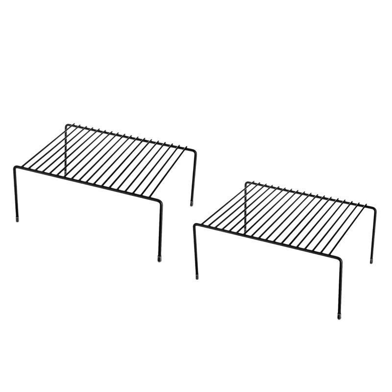 Étagères de cuisine, Organisation de l'armoire Mini rangement étagères de stockage en métal (2pcs)