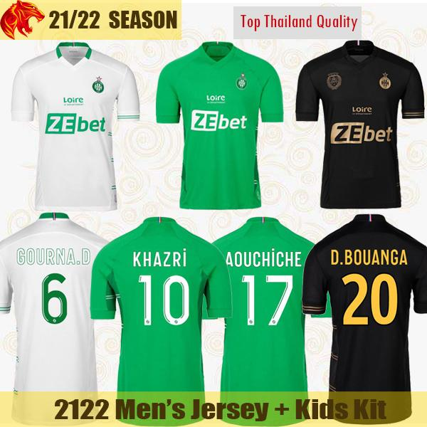 21 22 AS SaÏnts-Étienne Futbol Forması KHAZRI 2021 2022 ABI AOUCHICHE NORDIN NEYOU Futbol Forması GOURNA-DOUATH CAMARA Erkek Forması Çocuk Kiti