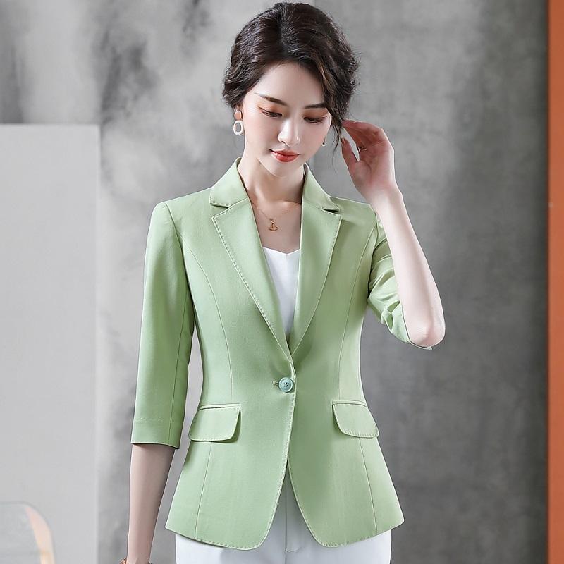 Women Blazers Summer Solid Color Jacket Half Sleeve Blazer & Suits 20915 Women's