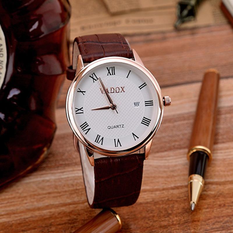 Montres Vidisi Vadox Calendrier Mode Femme Montre Men's Watch Lovers Quartz Livre