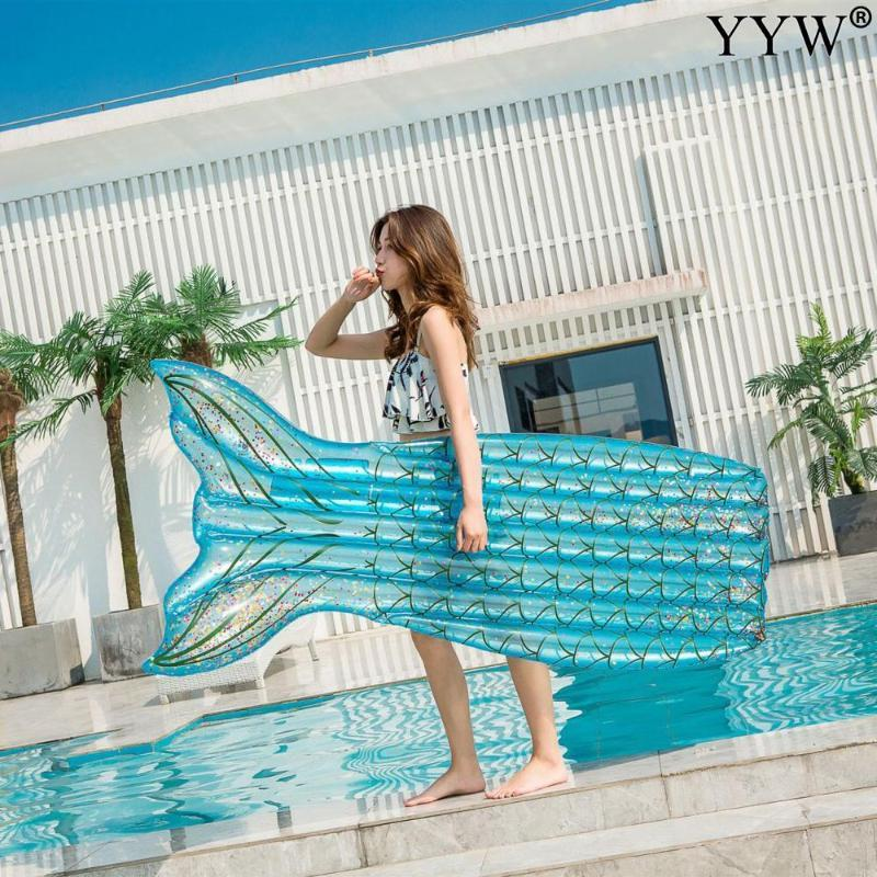 Fish-shaped Inflatable Pool Air Mattresses Beach Foldable Swimming Chair Hammock Water Play Floating Mattress 2021 Floats & Tubes