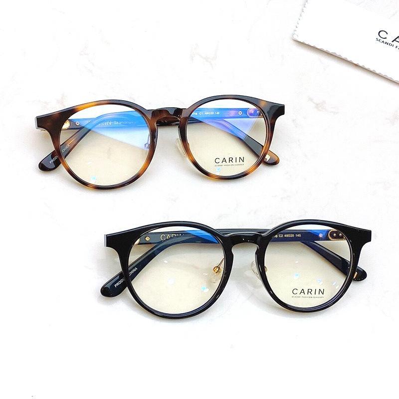 2021 moda carin xiuzhi mesma folha estudante redondo videira óculos quadro miopia