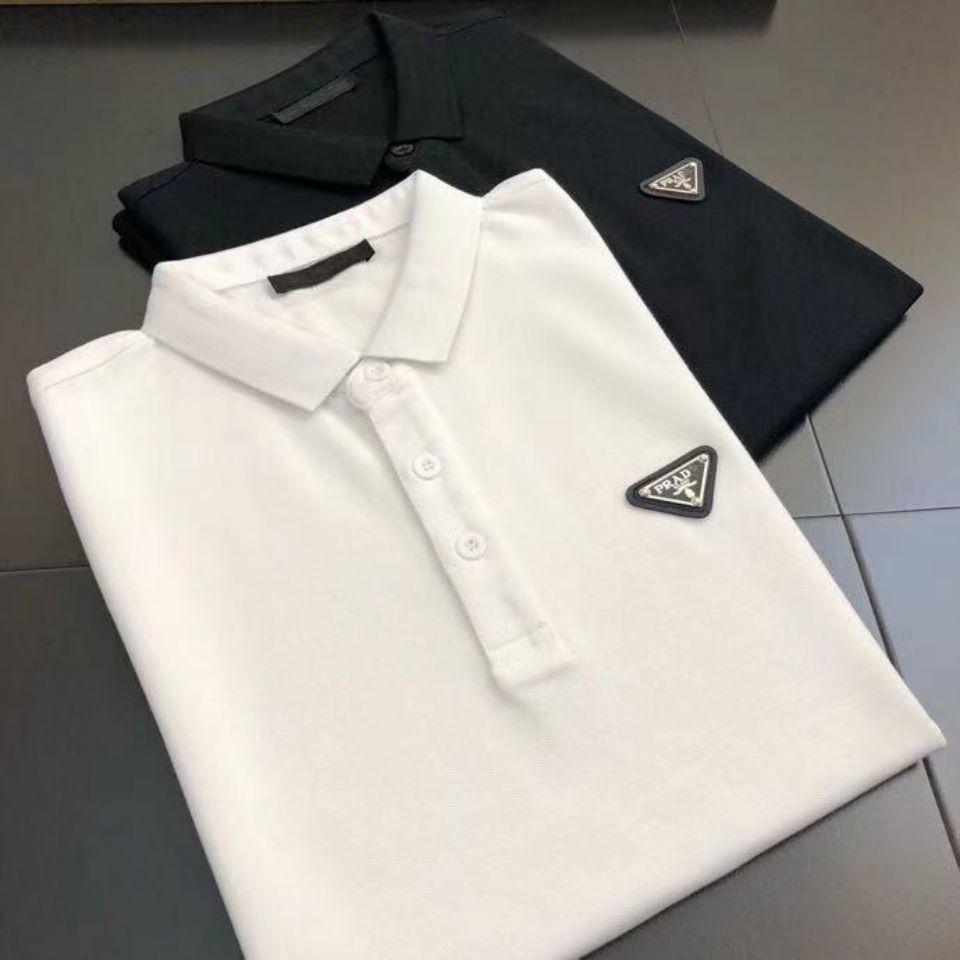 DesignerDesignerPolo2021 Yeni P Aile Bahar ve Yaz Erkek Giyim Yaka Katı Renk Iş Eğlence Moda Merserize Pamuk Kısa Kollu T-shirtbalencegaiga