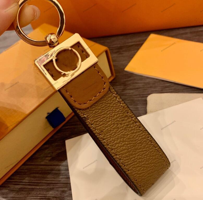 الفاخرة المفاتيح عالية qualtiy إلكتروني الطباعة اليدوية مفتاح حلقة حامل ماركة مصممين مفتاح سلسلة الرجال النساء النساء سيارة قلادة حقيبة المفاتيح