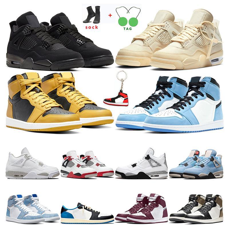 air retro jordan 1s 4s   Sneaker Casual per Donna Uomo Nero rosa bianco Sneakers sportive Taglia 36-45 Aumenta la moda