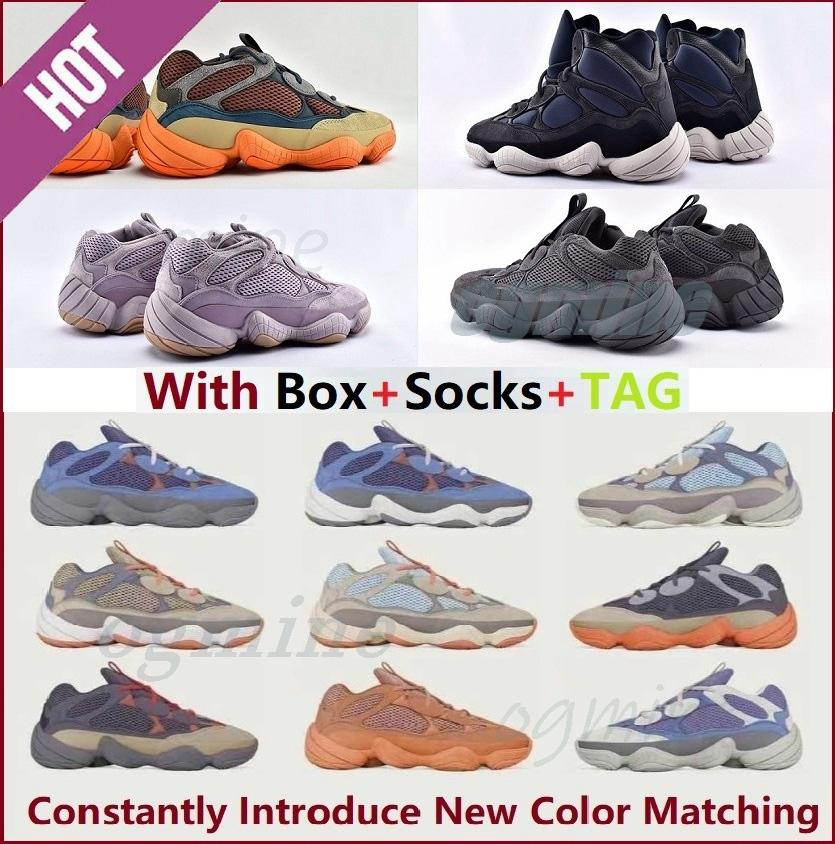 Kanye 500 Enflamme Chaussures de course de la qualité supérieure [NouveauLes produits seront mis à jour en permanence] Soft Vision Soft Soft WestSneakers de sport rougir les formateurs de sel # 2222