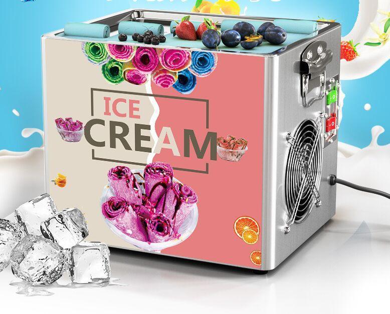 Thai Rührwerk Bry Eiscreme Werkzeuge Rollmaschine Elektrische Kleingebraten Joghurt zum Verkauf