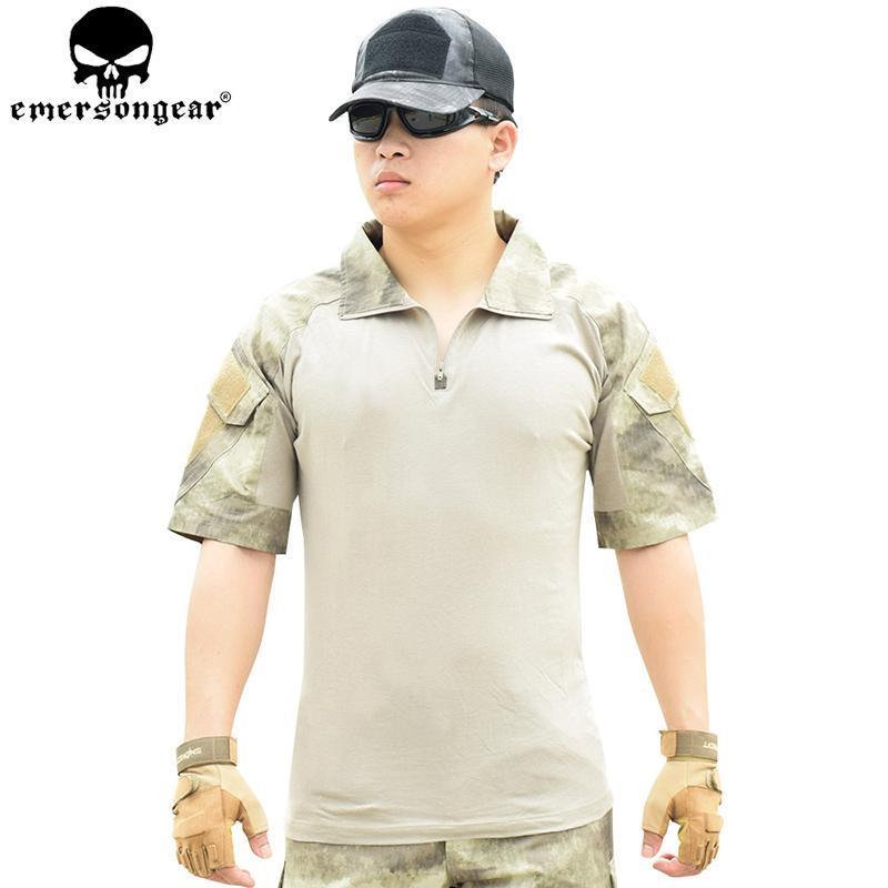 Охотничьи наборы Emersongear боевые брюки рубашки с коленными колодками тактические пейнтбол открытая одежда EM6918
