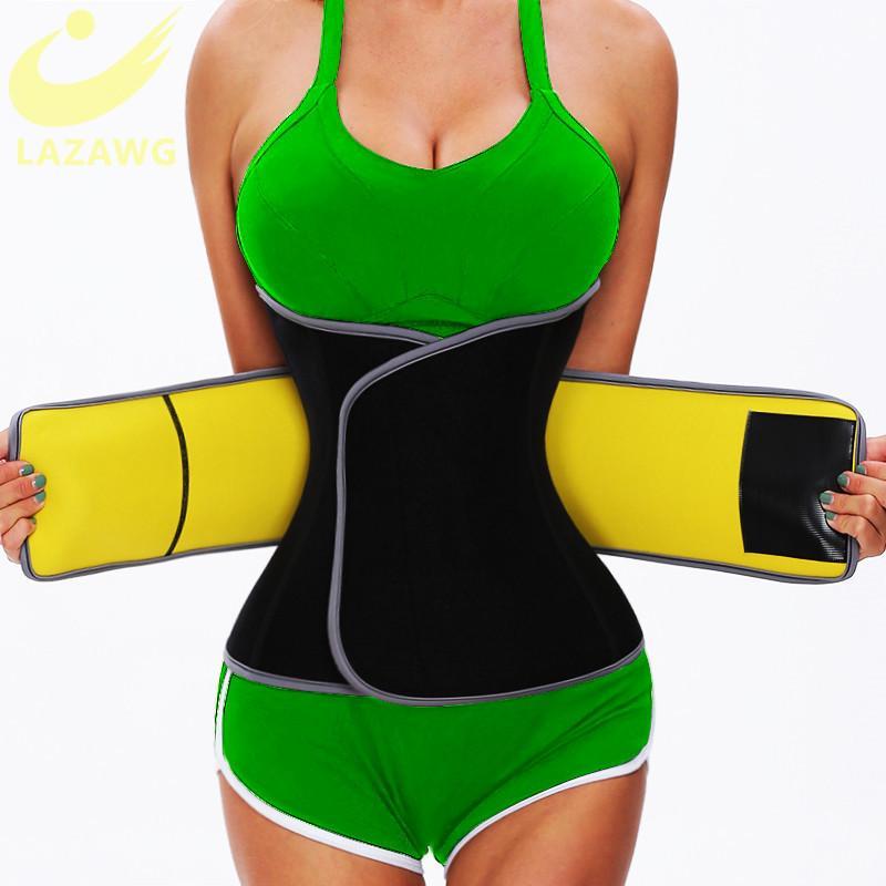 Lazawg cintura treinador sauna suor corpo shaper cinto de peso cintura cintura cintura timmudim tumprimente emagrecimento shapiming home fitness 210326