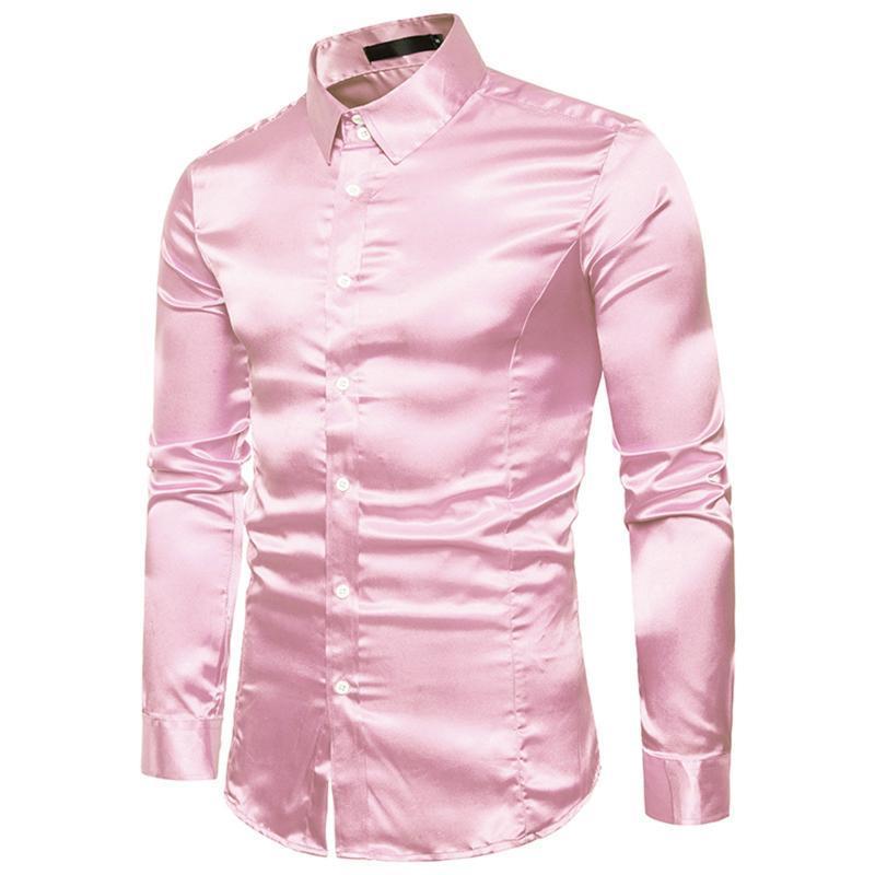 럭셔리 남성 고품질 캐주얼 패션 광택 긴 소매 옷깃 셔츠 Camisa 사회 masculina 만화 롱 아빠 파티 셔츠