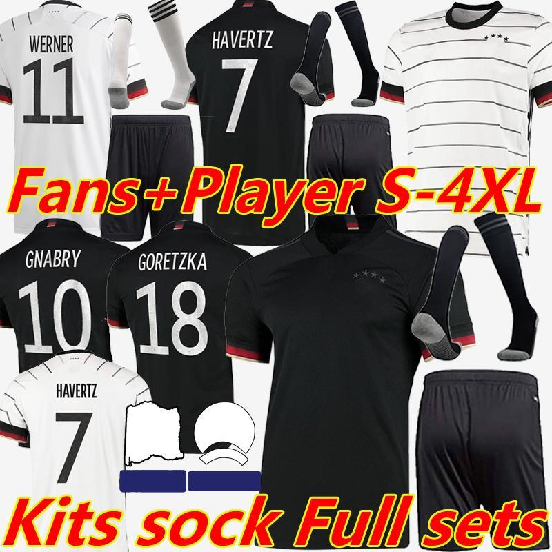 2020 2021 Germany Fussball Jersey Spielerversion Training Werner Reus Kimmich Kroos Gnabry Havertz Männer Frauen Kinder Kits Fußballhosen 4XL